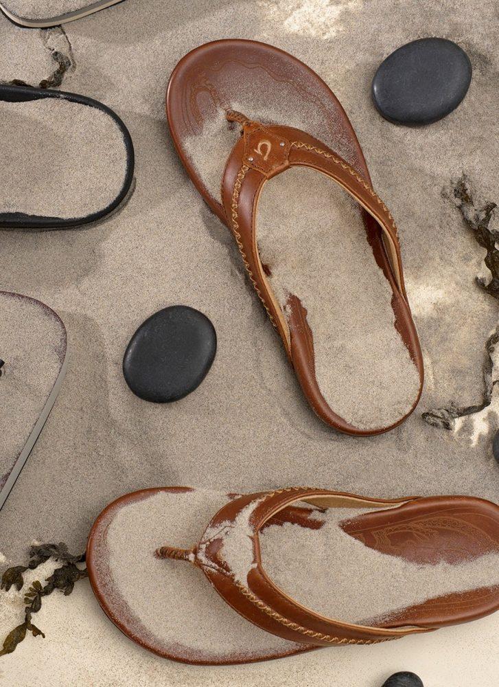 2e49ae8a230 Grosgrain and molded rubber flip-flops