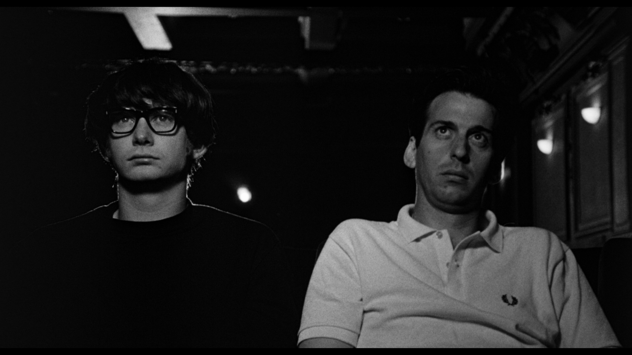 Ian Hart as John Lennon (left) and David Angus as Brian Epstein (rt)